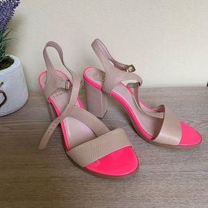 VINCE CAMUTO Pink & Nude Block Heels